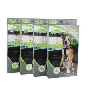 Veilig op reis met uw hond in de auto? Dat kan met deze speciale harnas en autogordel inclusief tuig. Verkrijgbaar in vier verschillende maten.