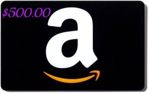 $500 Amazon.com Gift Card Giveaway ends july 31