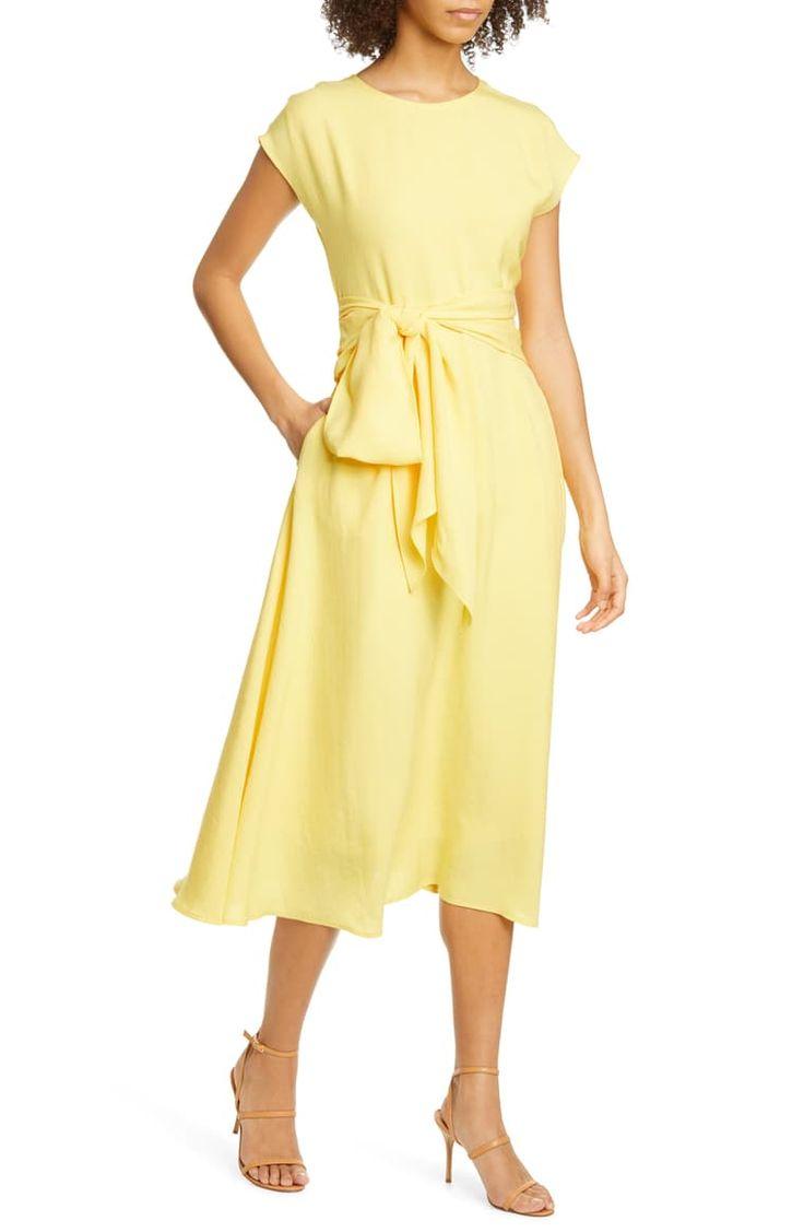 boss dacari tie front midi dress nordstrom midi dress dresses