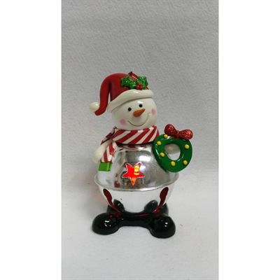 Holiday Living Christmas Color Snowman Ornament with Color Changing Led Lights