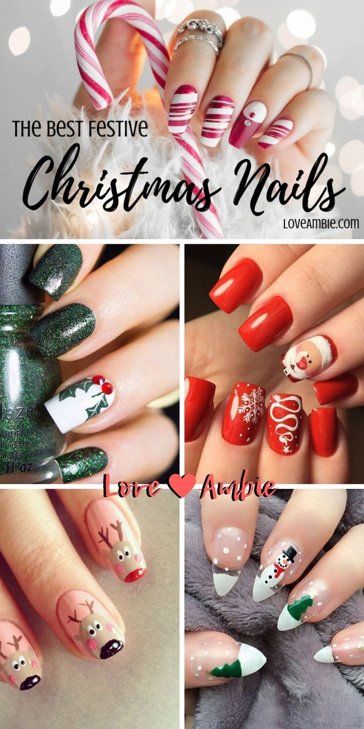 51 Festive Christmas Nail Art Ideas Holiday Nail Designs 2020 Guide Holiday Nail Designs Christmas Nails Christmas Nail Designs