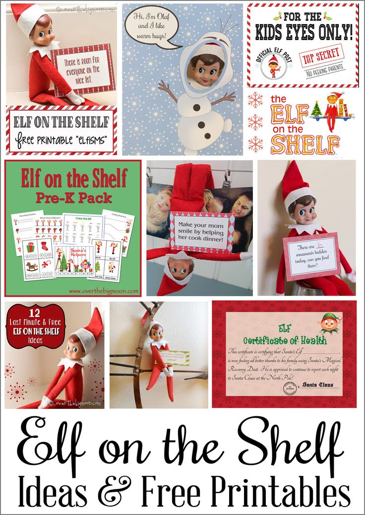 So many fun ideas and free printables for your Elf on the Shelf!