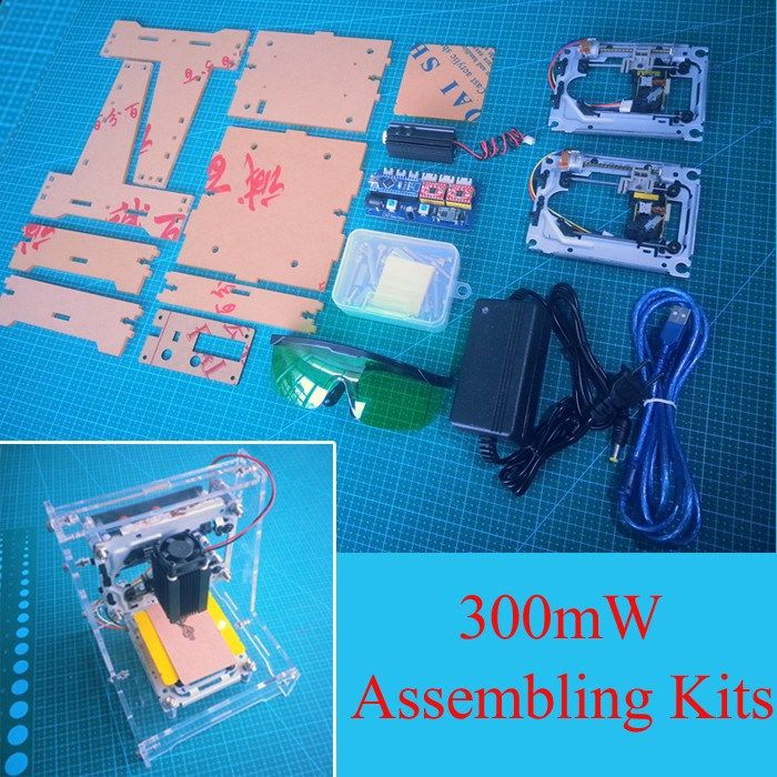 300mW Mini DIY Laser Engraving Machine Picture Logo CNC Laser Printer Assembling Kit