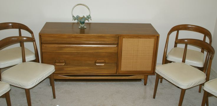 Sold Lawrence Peabody Sideboard Chairs Mid Century