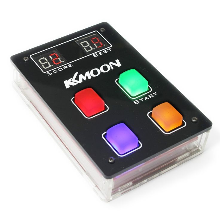 KKmoon DIY Game Console Kit with Acrylic Case LED Light Game Sales Online - Tomtop.com