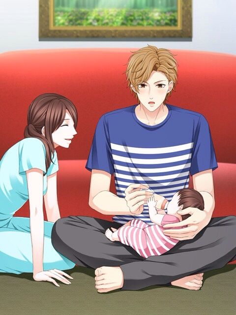 """Ota Kisaki [Bringing up a child for the first time] """"Don't you think I succeeded eventhough it's my first time giving the bottle?"""""""