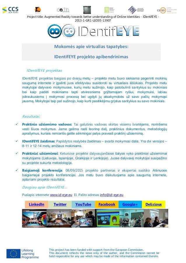 Second press release LT  http://www.slideshare.net/ccsdigitaleducation/identifeye-second-press-release-lt