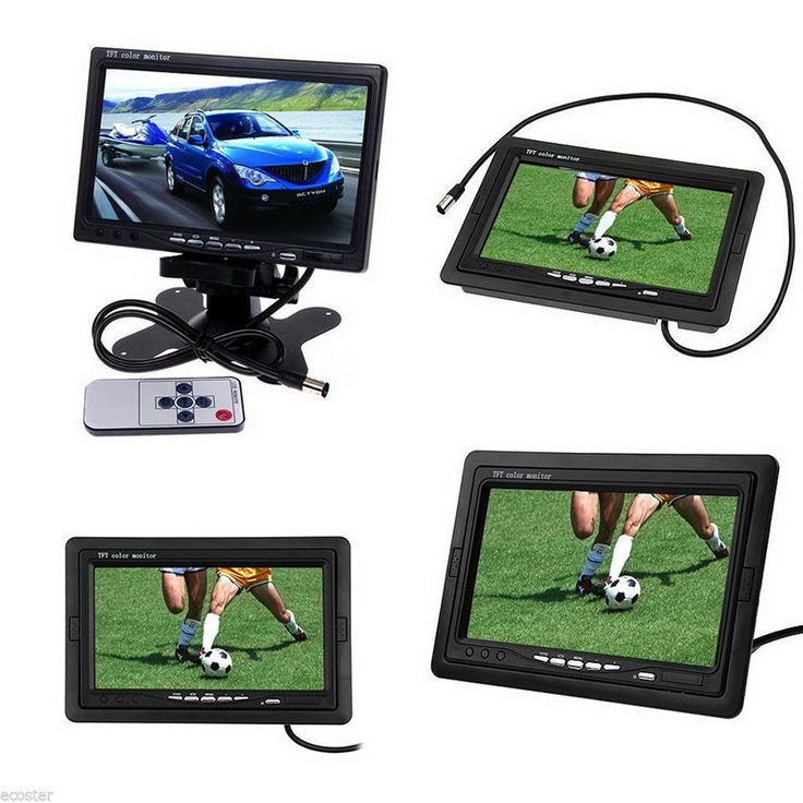 "7 Inch TFT LCD Car Rear View Monitor DVD VCR For Reverse Backup Camera 7"" Rearview Display Screen Auto Video Equipment"