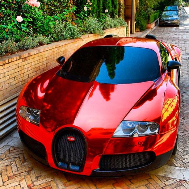Ruby Red Bugatti Veyron! Very Nice!