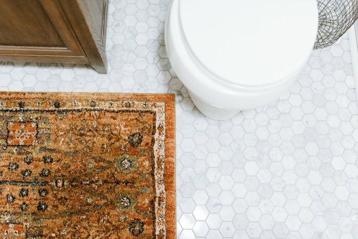 Use a Small Rug Instead of a Bath Mat
