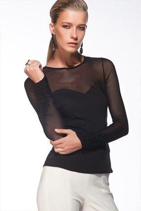 Siyah Bluz MLWAW141884 Milla by trendyol | Trendyol