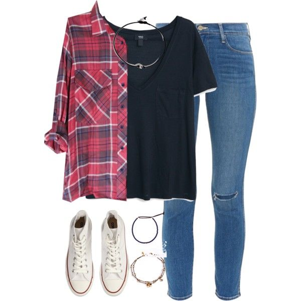 A fashion look from October 2015 featuring MANGO t-shirts, Frame Denim jeans and Converse sneakers. Browse and shop related looks.