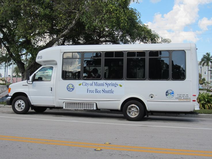 """The """"Miami Springs Free-Bee"""" is a free circulator shuttle service that connects residential neighborhoods to public transportation. The schedule and route are located at http://www.miamisprings-fl.gov/community/ride-free-bee-shuttle"""