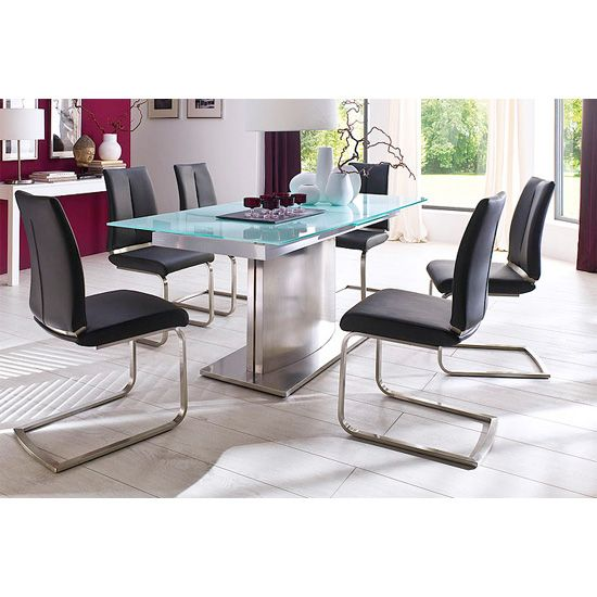 Memory 6 Seater White Dining Table Set With Ronja Dining Chairs