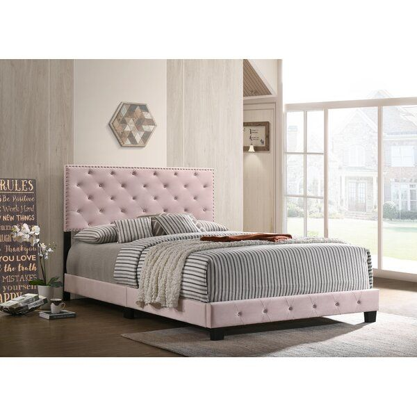 Velma Tufted Upholstered Standard Bed In 2020 Furniture Tufted Upholstered Headboard Upholstered Platform Bed