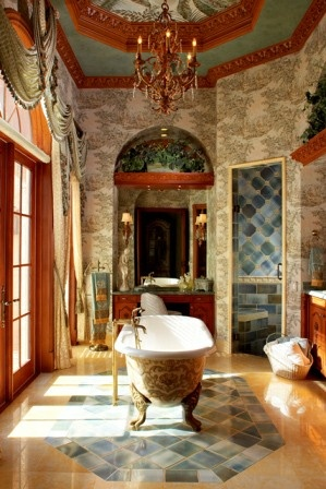 I Really Like This, Though I Would Want A Bigger Bathtub And It Would Make.  Chic BathroomsLuxury BathroomsMediterranean BathroomMediterranean Style ... Part 98