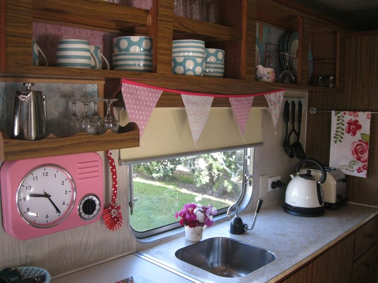 Everything you need including the kitchen sink vintage retro caravan cosy corner holiday park - Caravan kitchen sink ...