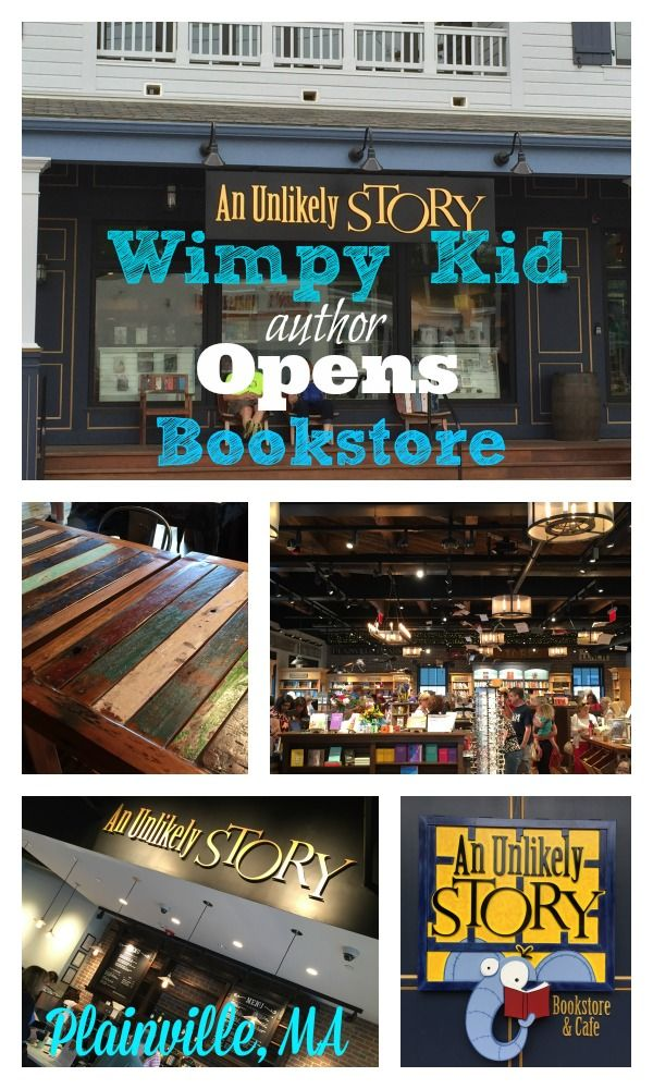 Jeff Kinney, award winning author of Wimpy Kid books, opens new bookstore in Plainville, MA. Add it to your bucket list and pay a visit this summer!