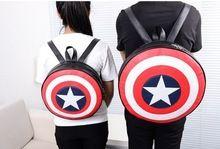 Gratis verzending Marvels De Avengers captain america schild rugzak Rugzak tas student ronde eindigt Agenten van S.H.I.E.L.D.(China (Mainland))
