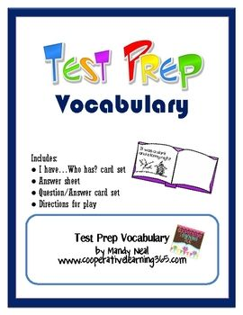 Don't let vocabulary get in the way of your students not understanding what to do on standardized test. With this FREE vocabulary set, students will become familiar with 24 different words that they may encounter on the test.