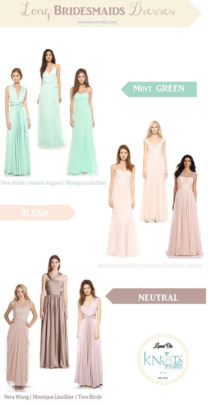 13 best bridesmaid dress images on pinterest bridesmaid ideas long bridesmaids dresses mint blush and neutral knotsvilla ombrellifo Choice Image