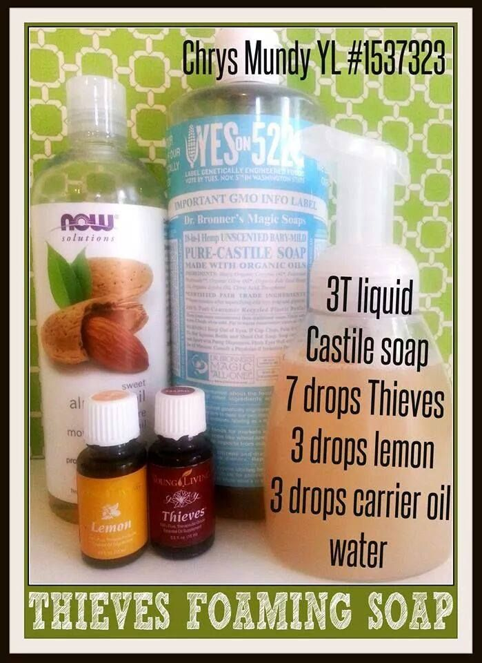 Young Living Essential Oil Thieves Foaming Soap