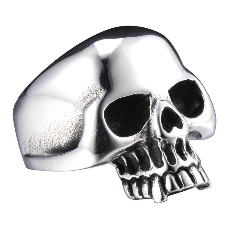 R&B Herren Ring Edelstahl - Kollektion Bad Ass - Tödliche Thriller (Silber, Schwarz): 22,90€