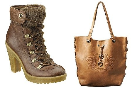 En estilo vintage estas botas del oeste americano y una cartera ad hoc