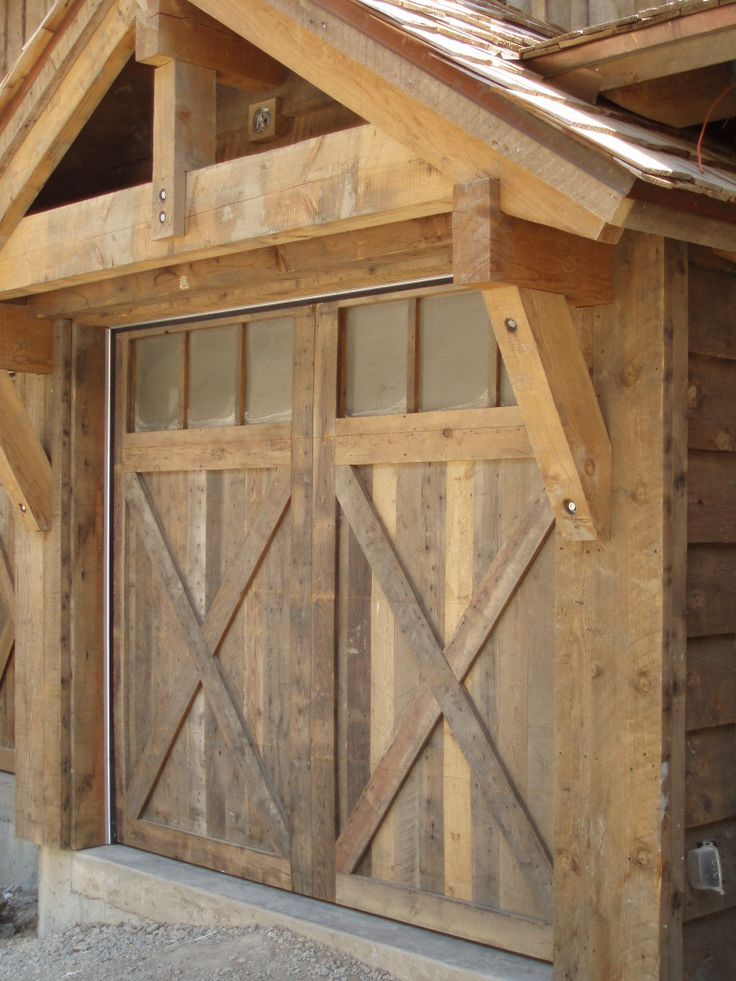 Best 25 timber frame garage ideas on pinterest timber for Rustic wood garage doors