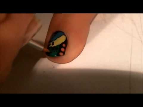 NU'EST Ren Sleep Talking nail art tutorial - YouTube