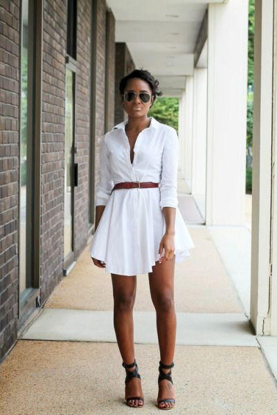 25 Simple Ways to Style a Shirtdress for Spring | StyleCaster