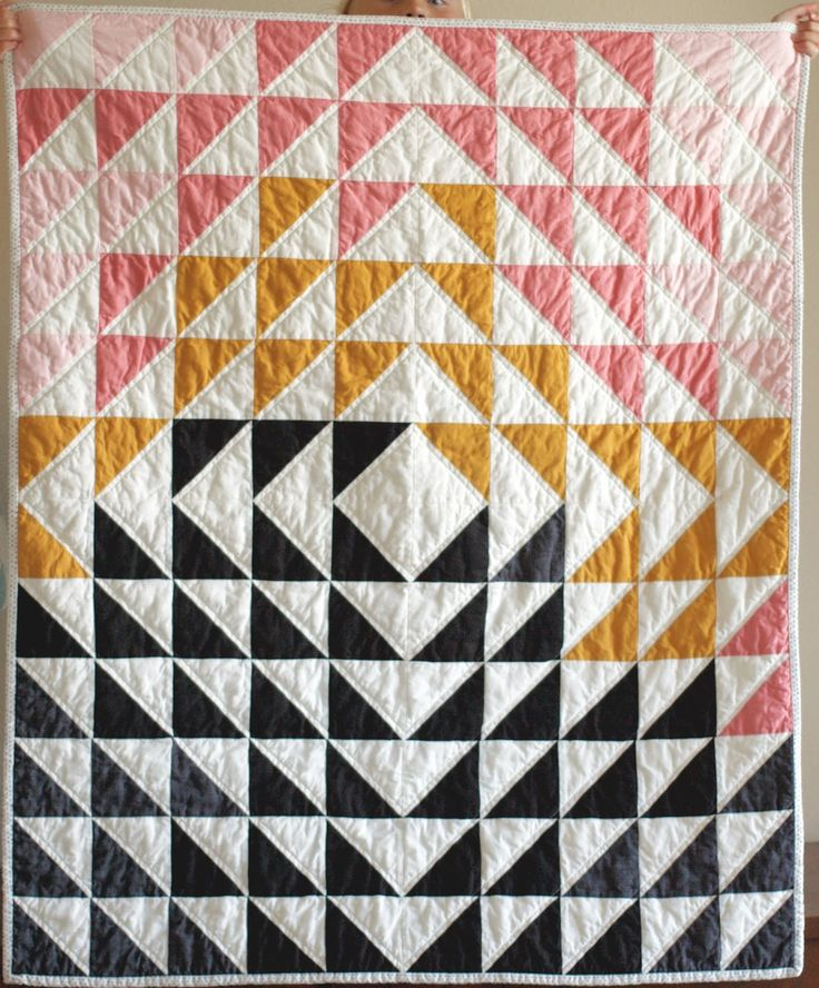 baby quilt pink and black                                                                                                                                                                                 More