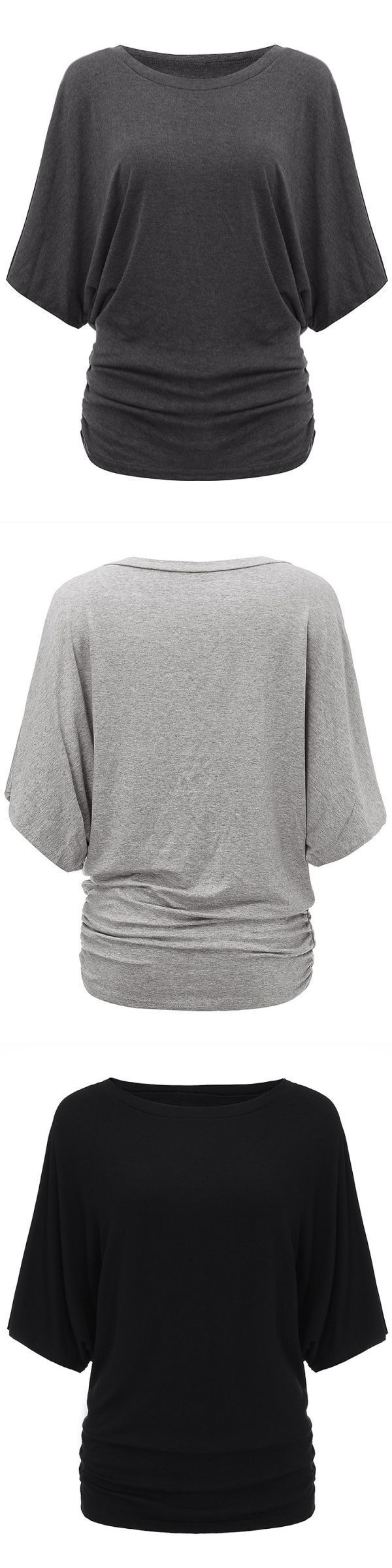 Fitted t shirts women#8217;s women solid o-neck batwing short sleeve casual loose t-shirt #t #shirt #this #girl #needs #a #beer #t #shirts #for #girl #scouts #womens #1/2 #sleeve #t #shirts #womens #halloween #t #shirts