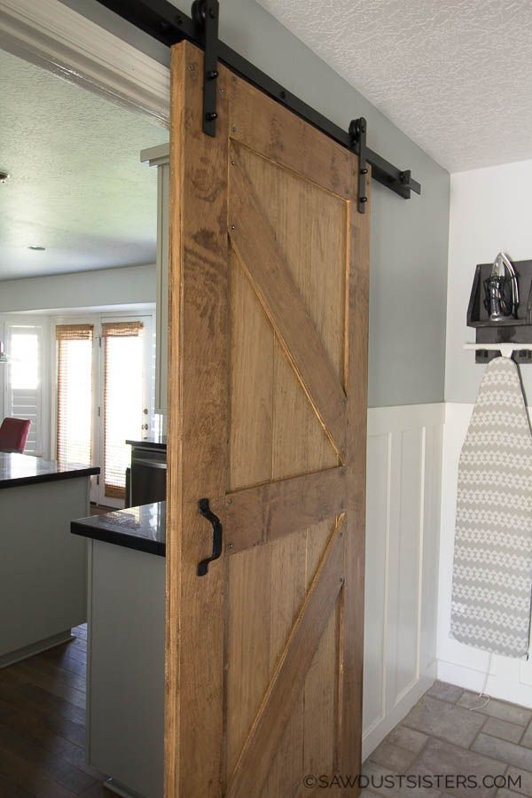 How To Build A Two Sided Barn Door Diy Barn Door Building A Barn Door Interior Barn Doors