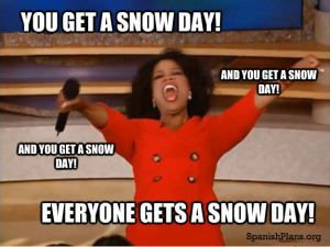 A lot of students think teachers hate snow days. If only they knew the truth…