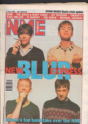New Musical Express Blur Cover Issue,Gene,Verve,Michael Jackson 17th June 1995 - http://www.michael-jackson-memorabilia.co.uk/?p=2418