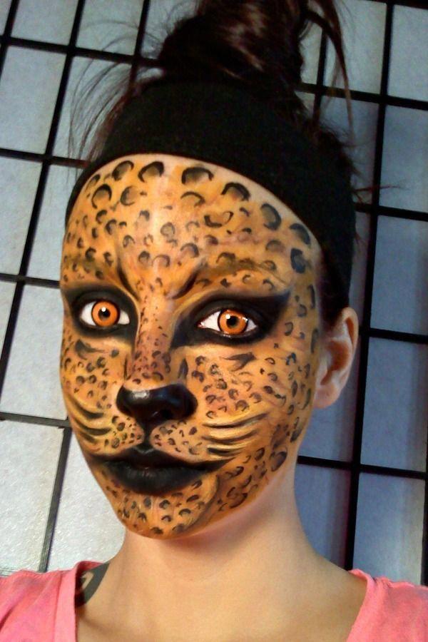Gta 5 Face Paint : paint, Halloween, Masken, Leopard, Makeup,, Paint, Kitty