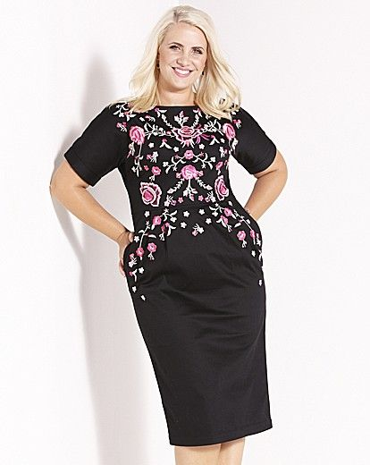 Claire Richards Floral Embroidered Dress