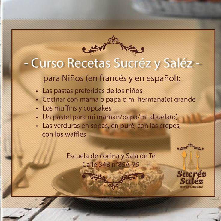 CURSO RECETAS SUCREZ SALEZ Para Niños (En Francés y Español)