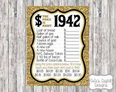 Custom The Price Is Right 1942 Game by GiGisDigitalDesigns on Etsy