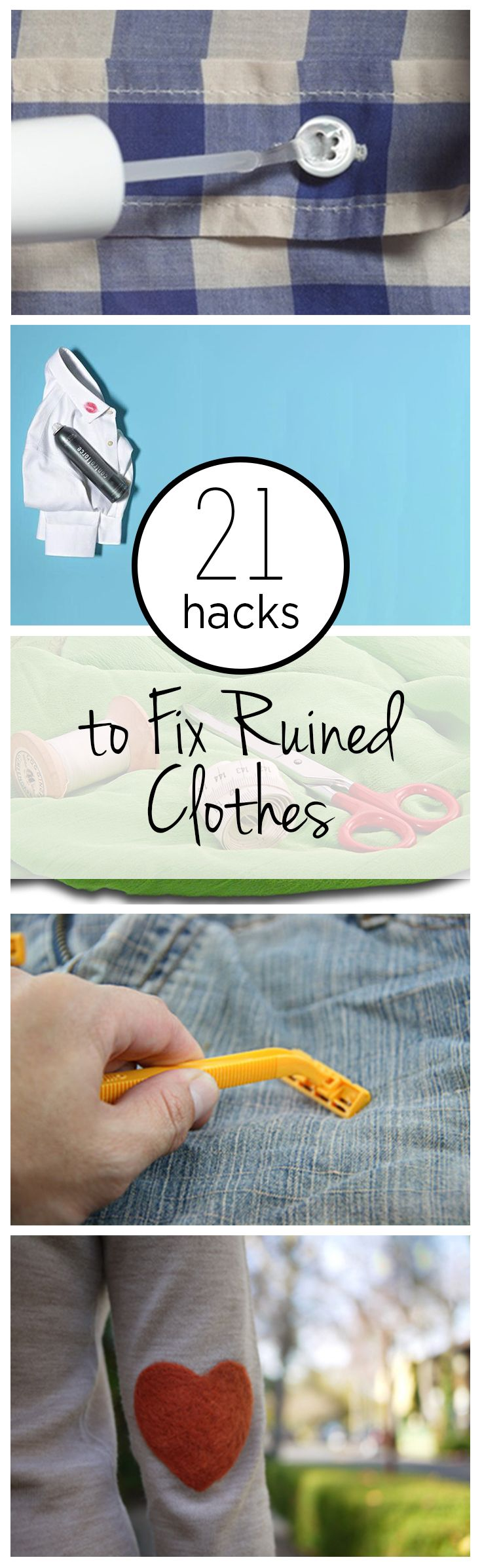 21 Hacks to Fix Ruined Clothes