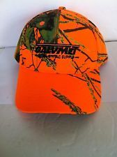 Mossy Oak Flex Strap Orange Hat with Camo Camouflage Adjustable Galvmet