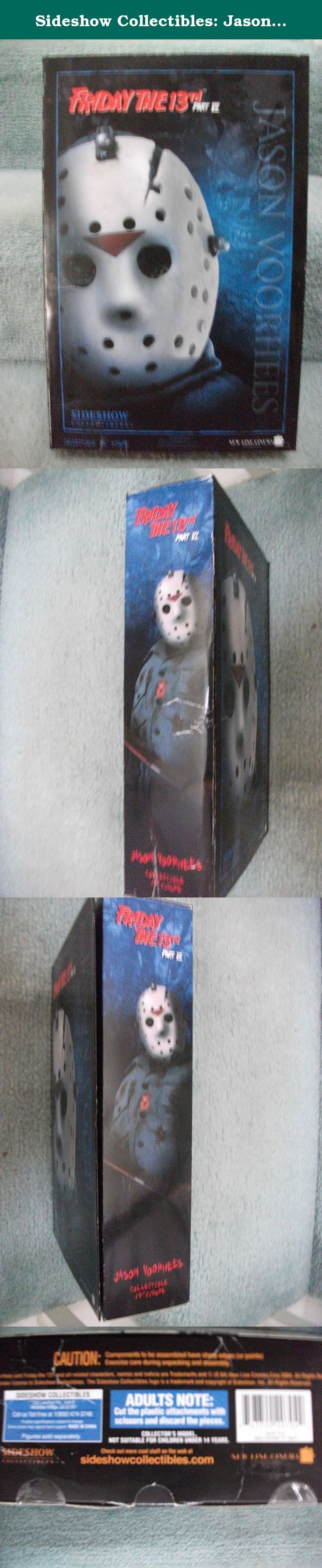 """Sideshow Collectibles: Jason Voorhees Friday The 13th VI Jason Lives 12"""" Action Figure. Sideshow toy limited edition Jason Voorhess from Friday the 13th Part VI 6. This is the best one yet. It comes with the Hockey mask and Jason looks like he has been in the ground awhile. A must for any Jason Fan."""