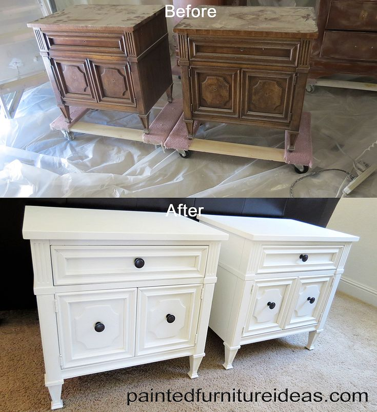 25 Best Ideas About Refinished Nightstand On Pinterest Metallic Paint Silver Metallic Paint