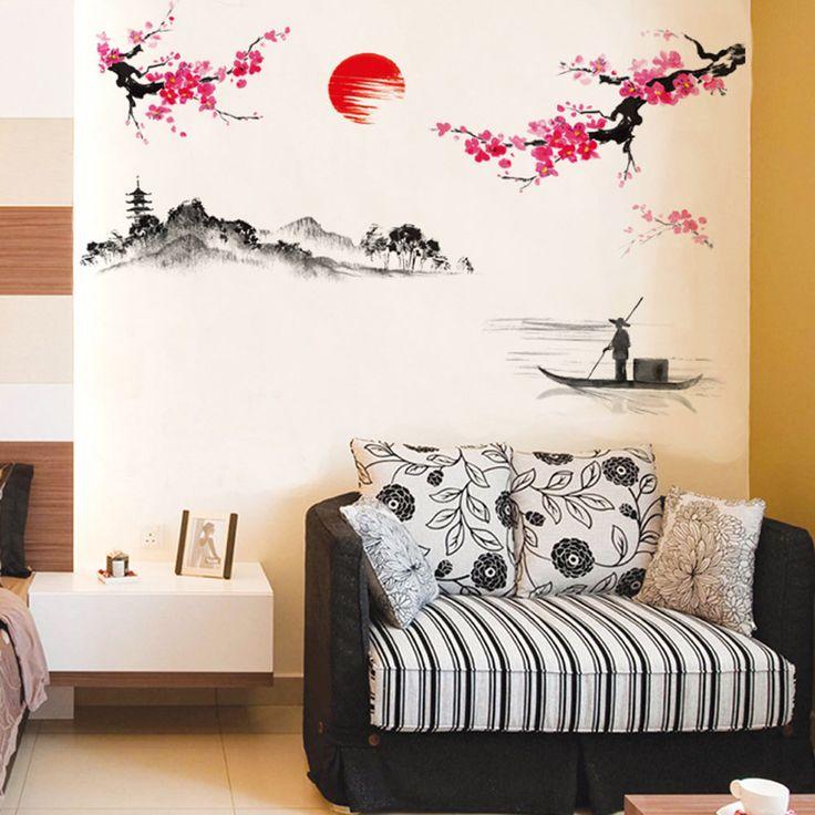 Hot Zon Pruim Bloem Decoratie Op De Muur De Woonkamer De Slaapkamer Muur Stok TV Instelling Muurstickers in  beste, welkom in onze winkel, in onze winkel, als uw bestelling betaling is meer dan $7, kan je 1 stks gift, welkom uw  van muurstickers op AliExpress.com | Alibaba Groep