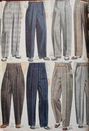 1940s mens casual pants, 1948