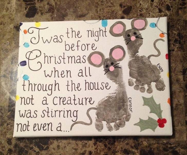 'Twas The Night Before Christmas Footprint Craft! | Nifymag.com