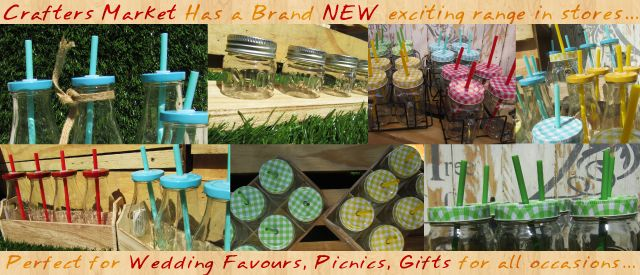 These Jars and bottles are great idea for weddings, Birthdays, Picnics and any other special event you planning.