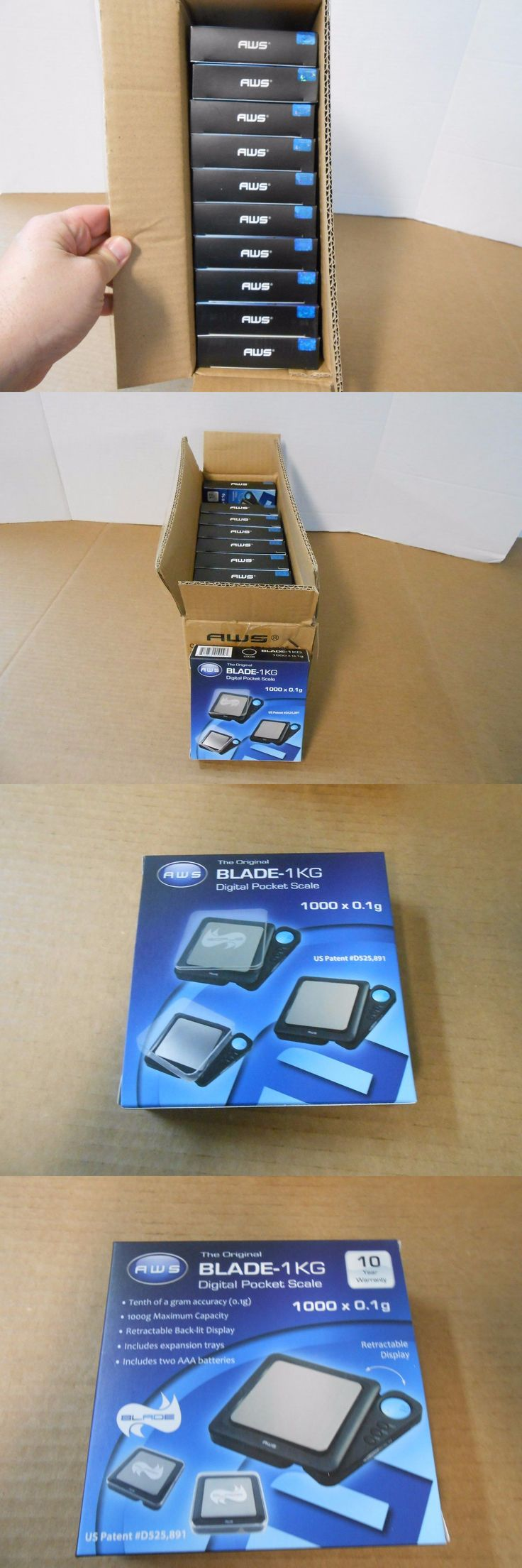 Pocket Digital Scales: Lot Of 10 New In Box American Weigh Scales Bl-1Kg-Blk Blade Digital Pocket Scale -> BUY IT NOW ONLY: $79.99 on eBay!