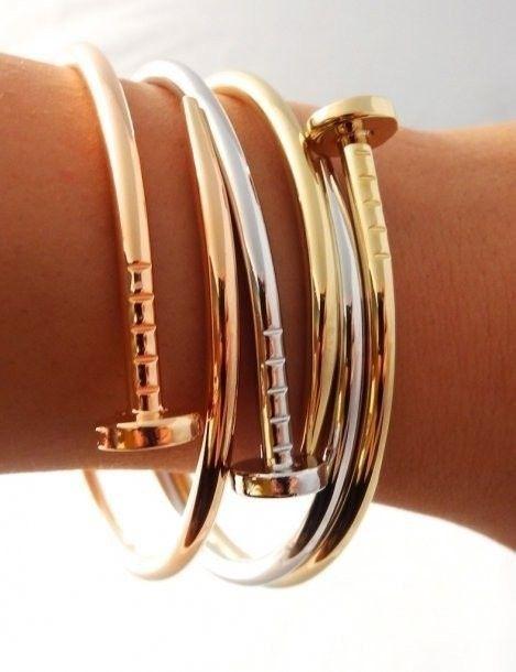Nail Bracelet | http://styleaddict.com.au/accessories/jewelry/rose-gold-nail-bracelet.html  Mini Shop